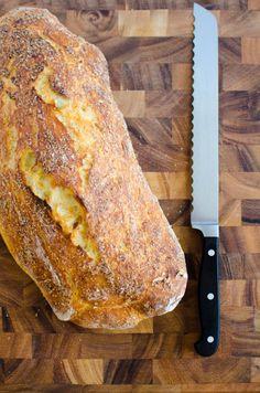 No-Knead Homemade Ciabatta Bread. I LOVE no knead bread recipes. Knead Bread Recipe, No Knead Bread, Yeast Bread, Bread And Pastries, Bread Bun, Bread Rolls, Easy Bread Recipes, Cooking Recipes, Homemade Ciabatta Bread