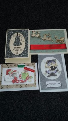 Christmas cards stamped decoupage kits Dec 15