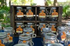 Southern Waters wedding by Desiree Dawn Events - reusable mason jar glasses