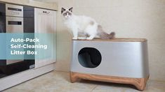 iKuddle is raising funds for iKuddle Auto-Pack Litter Box: Clump Disposal Made Easy on Kickstarter! The most-convenient cat litter box that cleans itself, packs the waste for you, and reduces odors. Self Cleaning Litter Box, Car Cleaning, Automatic Litter Box, Litter Robot, Litter Box Enclosure, Cat Room, Funny Cat Memes, Funny Cats, Box Design