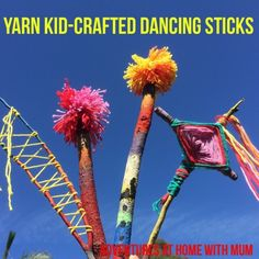 Adventures at home with Mum: Spring Craft Yarn Dancing sticks & dreamcatchers
