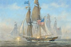 Patrick O'Brien. The Battle of Lake Erie, 1813. Available as a reproduction at Icon Galeria.