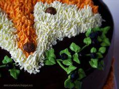 Tort lis - pomysł na dekorację