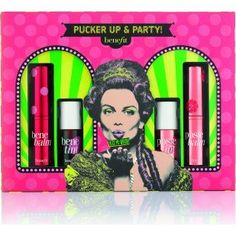 Pucker Up And Party Set Makeup To Buy, The Balm, Fragrance, Make Up, Skin Care, Holiday, Party, Red, Stuff To Buy