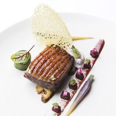 Chefs, Plate Presentation, Foie Gras, Piece Of Cakes, Fine Dining, Food Art, Caramel, Food And Drink, Plates