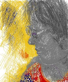 I pad art face 2