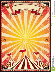 Circus Carnival Posters | red vintage circus background for a poster.