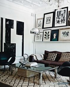 Monochrome space with Berber Rug