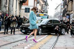 Street fashion: Milan Fashion Week jesień-zima 2015/2016, fot. Imaxtree