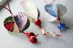 making christmas ornaments with old christmas cards - Google Search