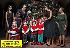 Michelle Obama in a vintage black dress