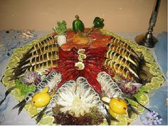 Fish cutting the festive table