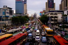 Traffic chaos in Bangkok. They call it organized chaos but I remain skeptic. Photographer: Rebecca Erkenstam
