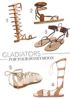 21f84382a26 Gladiator Sandals to Pack for Your Honeymoon