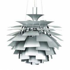 Poul Henningsen Style Artichoke Ceiling Pendant Light in Silver