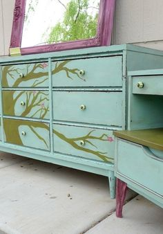i want to paint all the old furniture my family has by sonya