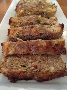Greek Turkey Meatloaf. I added 1 small grated zucchini, 1/2 yellow onion chopped, 1 T. worcestershire sauce, left out the parsley, and subbed oatmeal for breadcrumbs. It turned out great!!  Took about 50 minutes to cook.