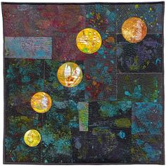 Kosmos 2   Ineke van Unen – art quilts – textile art