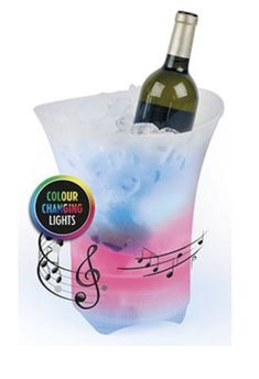 Party ice bucket Bluetooth tech at its best Fill Your Bucket, Color Changing Lights, Simply Filling, Keep Cool, Cherubs, Best Part Of Me, Cold Drinks, Vodka Bottle, Barware