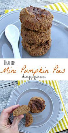 Healthy Mini Pumpkin Pies - vegan & gluten free, with no refined sugar   chicagojogger.com