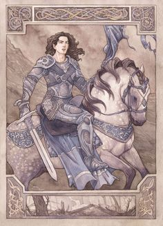 """""""Fingolfin's Challenge"""" by Jenny Dolfen. Fingolfin rides towards Angband to challenge Morgoth to a single combat."""