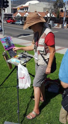 Shelby Keefe of Wisconsin competing in the Laguna Plein Air Invitational Quick Draw competition, October 9, 2016.