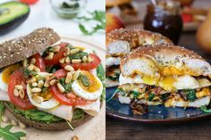 sitebagel Cheese Tower, Bagel Toppings, Bacon, Lunch Wraps, Salmon Burgers, Lunches, Donuts, Good Food, Brunch