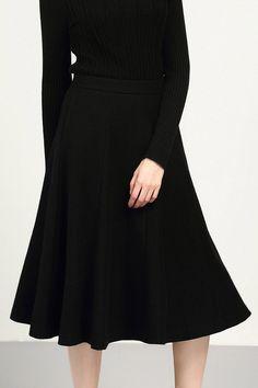 Pleated Winter Skirt