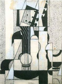 juan gris - still life with guitar