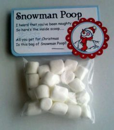 Snowman poop for winter ONEderland, could also do reindeer food for take home favors!