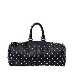 Steve Madden Weekender Black  Gold Studded X-large Tote Weekender Overnight  Duffle Replica Handbags 67ab48f12afea