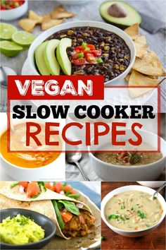 These vegan slow cooker recipes are great! Throw everything into the crock pot a… These vegan slow cooker recipes are great! Throw everything into the crock pot and you're done- awesome! Vegan Crockpot Recipes, Tasty Vegetarian Recipes, Slow Cooker Recipes, Healthy Recipes, Crockpot Meals, Detox Recipes, Vegan Meals, Crockpot Dishes, Free Recipes