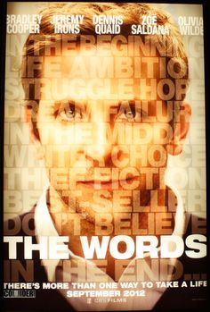 THE WORDS #WORDS #MOVIE #STORY #CINEMA #CHOICE #IRREVERSIBILITY
