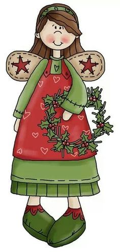 CHRISTMAS ANGEL CLIP ART: