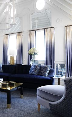 15 Lovely Living Room Designs With Blue Accents  Navy Sofa Pleasing Blue Sofa Living Room Design Review