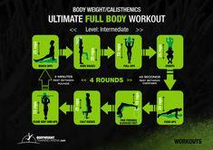 Intermediate - Ultimate Full Body Workout | bodyweighttrainingarena.com #workouts #calisthenics
