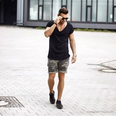   c a r g o   #MensFashion #BeauMonde #Style #Cargo #Shorts, #Black #LowCut #Tee & #Black #Shoes #Hot #Perfect #Trend #Casual #StreetStyle