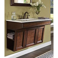 "Fairmont Designs Newhaven 36"" Wall Mount ADA Vanity - Nutmeg 
