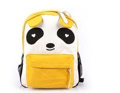 Plain 2 Pocket Backpack Rucksack School Bag Panda Logo Canvas Shoulder Bag Backpack (Yellow) by unbrand, http://www.amazon.com/dp/B00DJPIB2C/ref=cm_sw_r_pi_dp_DZCYrb07PKSNS