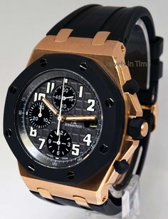 Audemars Piguet Royal Oak Offshore Chronograph 18k Rose Gold Box/Papers 25940OK | eBay