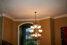 crown molding with rope lights