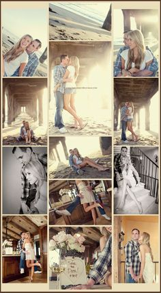love this beach engagement session