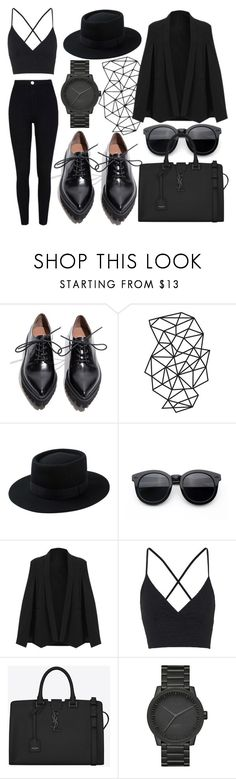 """""""[M]onochromatic"""" by ulyana-15 ❤ liked on Polyvore featuring Jeffrey Campbell, Topshop, Yves Saint Laurent, LEFF Amsterdam and River Island"""