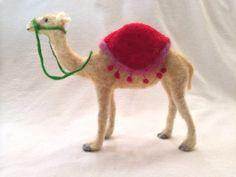 Camel Needle Felted Dromedary by feltedwildlife on Etsy, $60.00
