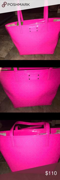 Kate spade hot pink purse tote bag NWT Kate spade new with tags pink harmony bag approx measurement  15 inches long  10 inches tall 6 inches width 8.5 in he's handle drop kate spade Bags Shoulder Bags