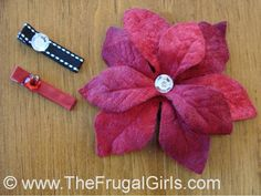 How To Make Christmas Hair Clips Easy