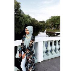 @__queenmelly killed it in our Baby Teal Premium Chiffon Wrap. #hijab #fashion #hijabfashion #modestfashion #ootd