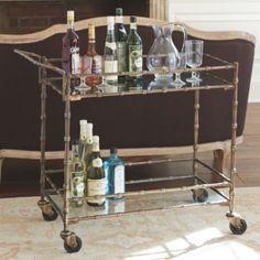 Jill Bar Cart | European-Inspired Home Furnishings | Ballard Designs #celebrateballard