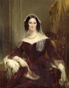 Jan Adam Kruseman (1804-1862) - Portrait of Dieuwke Fountein, second Wife of Adriaan van der Hoop, 1844 : Rijksmuseum, Amsterdam. Netherlands  via @LauChansArt