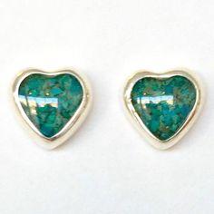 Zee Bee Market LLC - Sterling Silver and Mother of Pearl Heart Stud Earrings